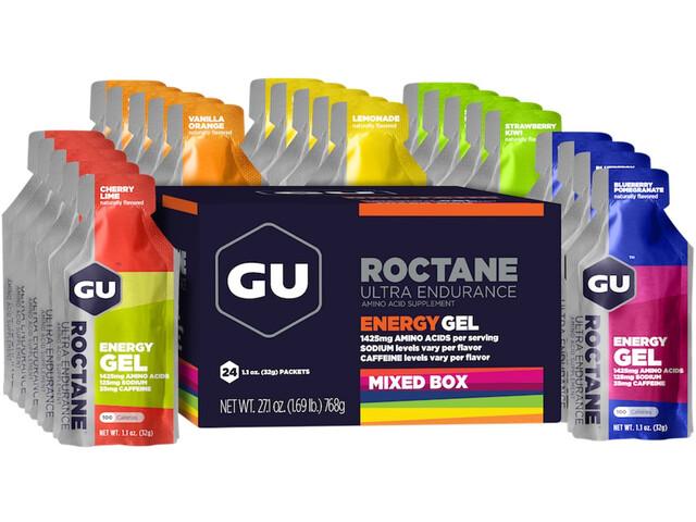 GU Energy Roctane Energy Gel Box 24x32g, Mixed